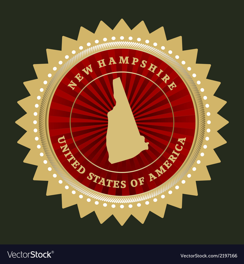 Star label new hampshire vector | Price: 1 Credit (USD $1)