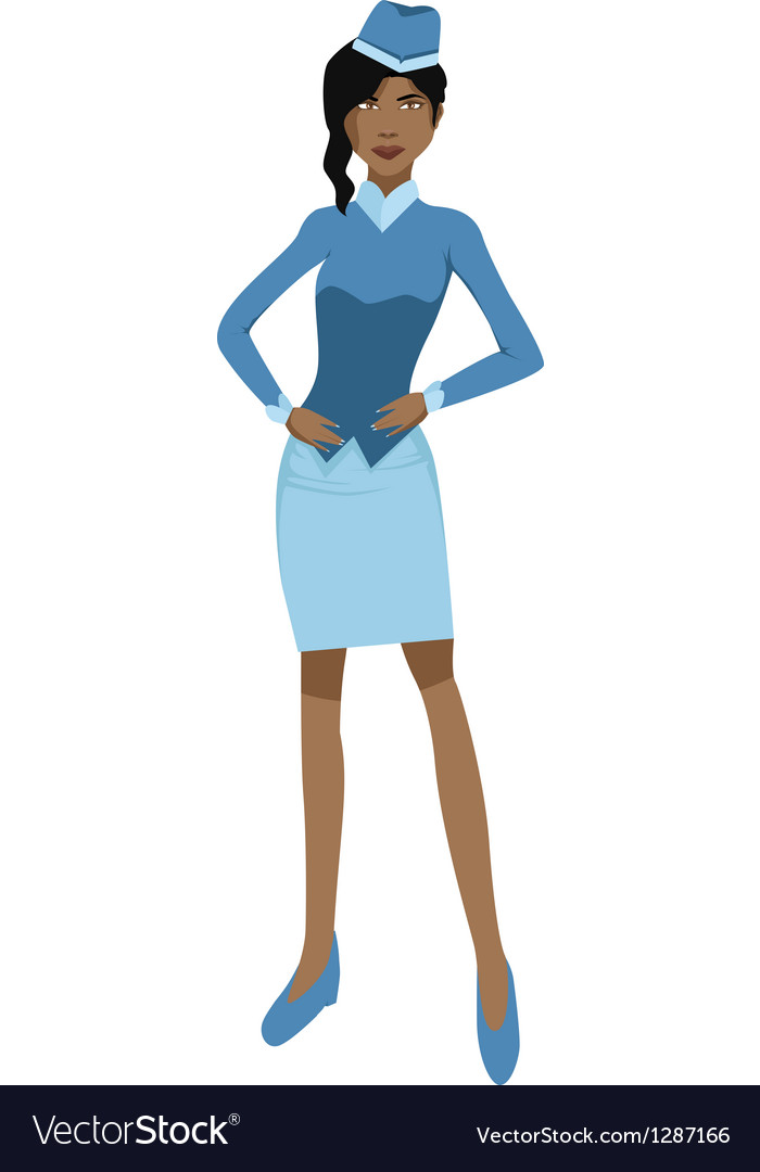 Stewardess vector | Price: 1 Credit (USD $1)