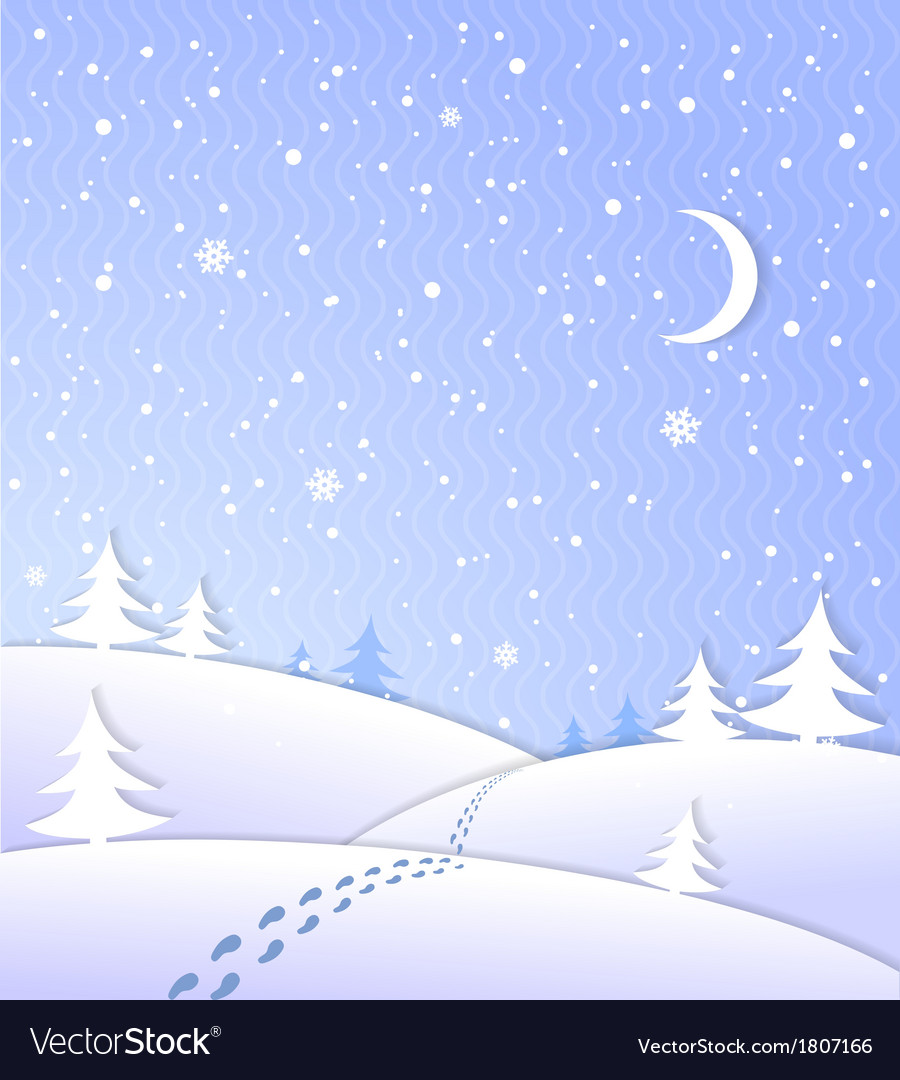 Winter background with falling snow vector | Price: 1 Credit (USD $1)