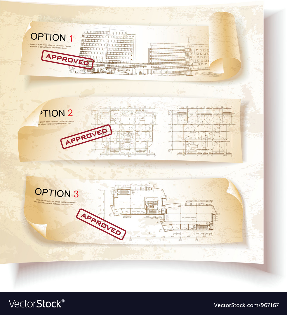 Architecture plan options vector | Price: 3 Credit (USD $3)
