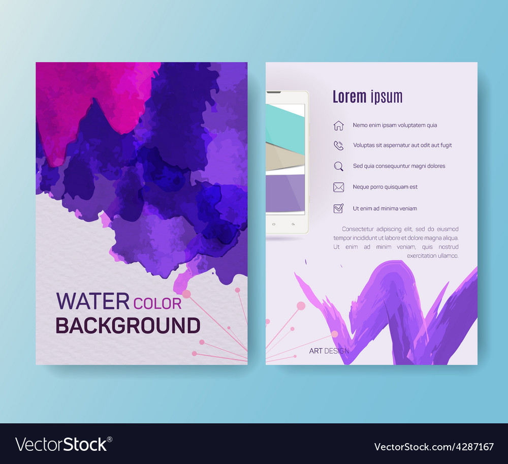 Booklet magazine poster flyer abstract banner vector | Price: 1 Credit (USD $1)