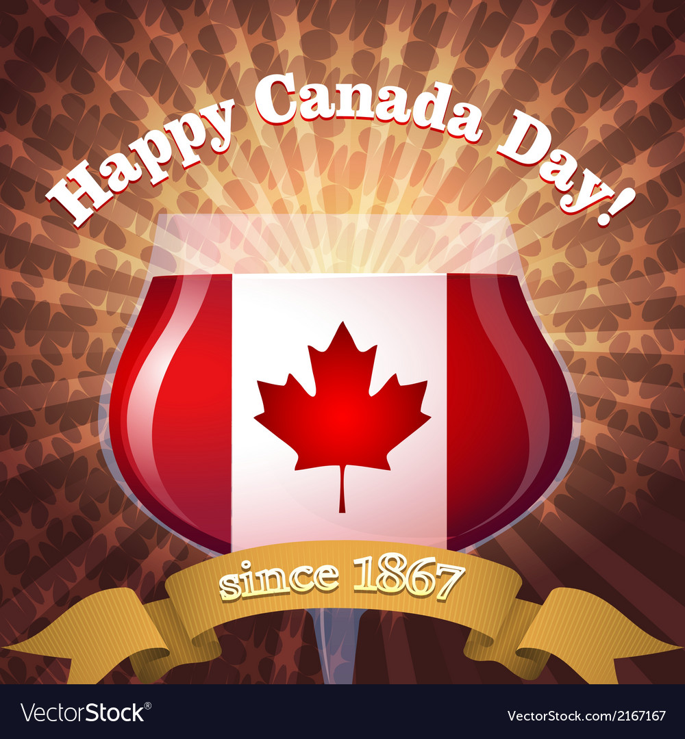Canada day goblet vs vector | Price: 1 Credit (USD $1)