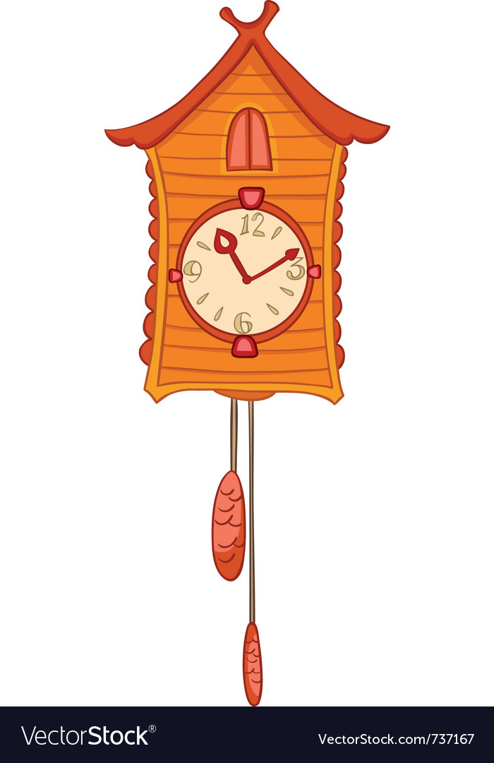 Cartoon home clock vector | Price: 1 Credit (USD $1)