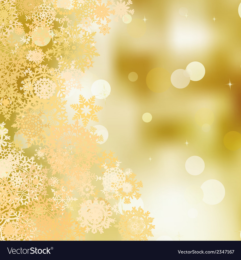 Festive gold christmas with bokeh lights eps 8 vector | Price: 1 Credit (USD $1)