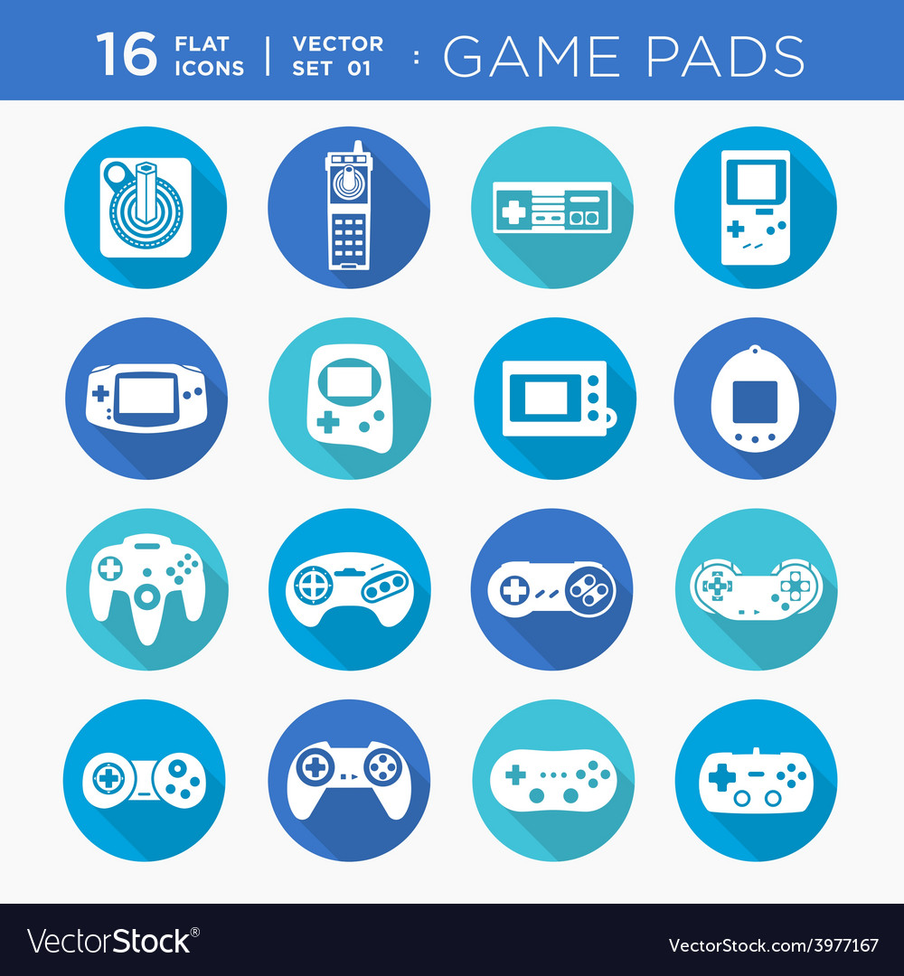 Game pads vector | Price: 1 Credit (USD $1)