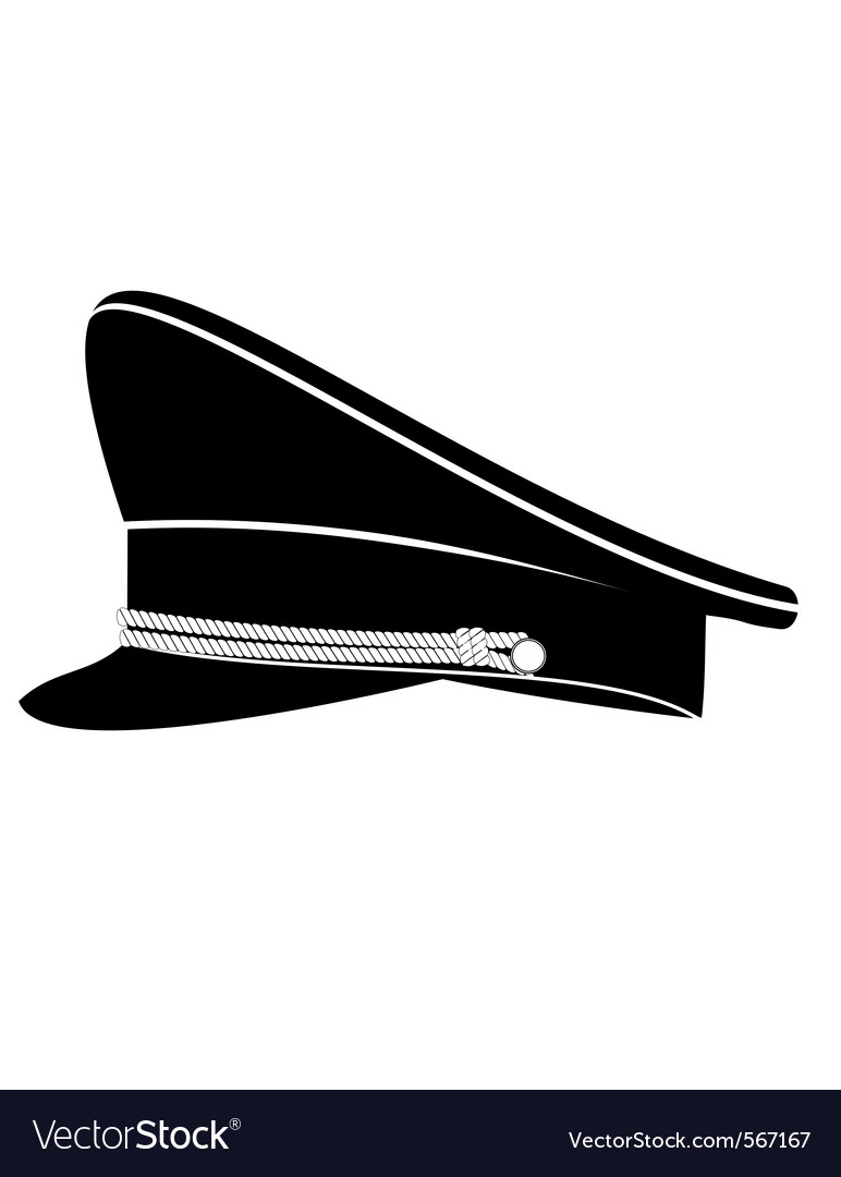 Military officer cap vector | Price: 1 Credit (USD $1)