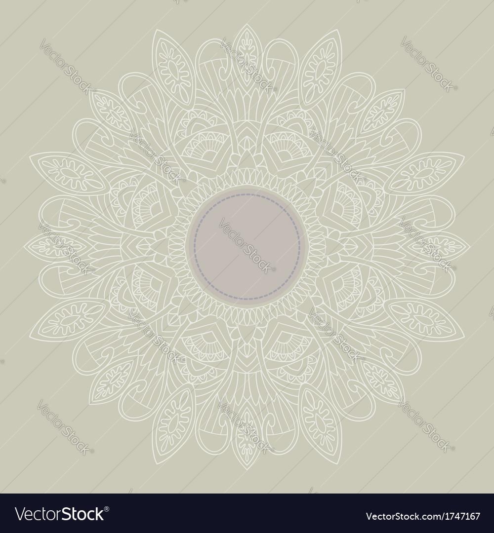 Ornamental round lace in ethnic style vector | Price: 1 Credit (USD $1)