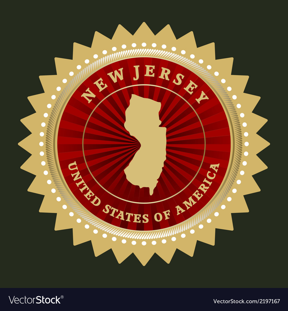 Star label new jersey vector | Price: 1 Credit (USD $1)