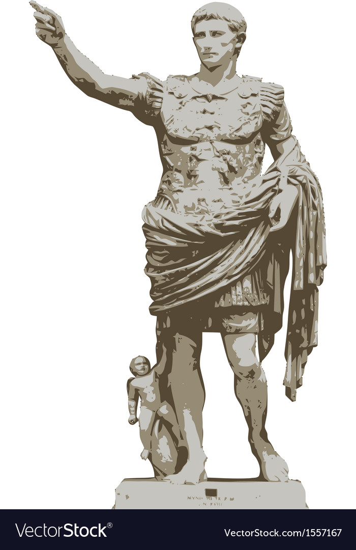 Statue of augustus vector | Price: 3 Credit (USD $3)