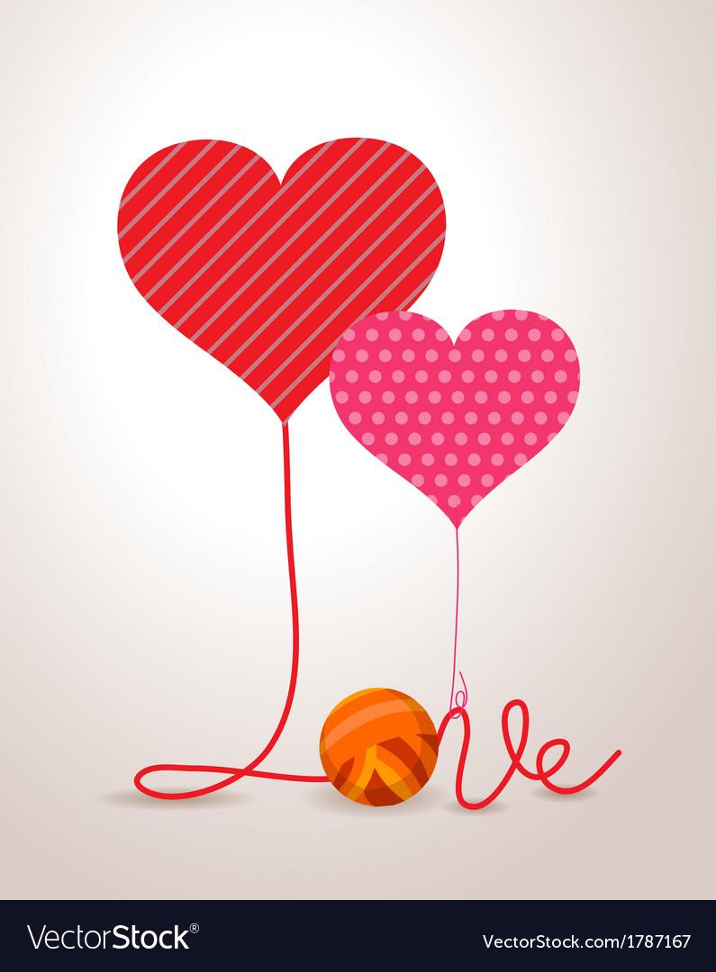 Valentine wool roll heart vector   Price: 1 Credit (USD $1)