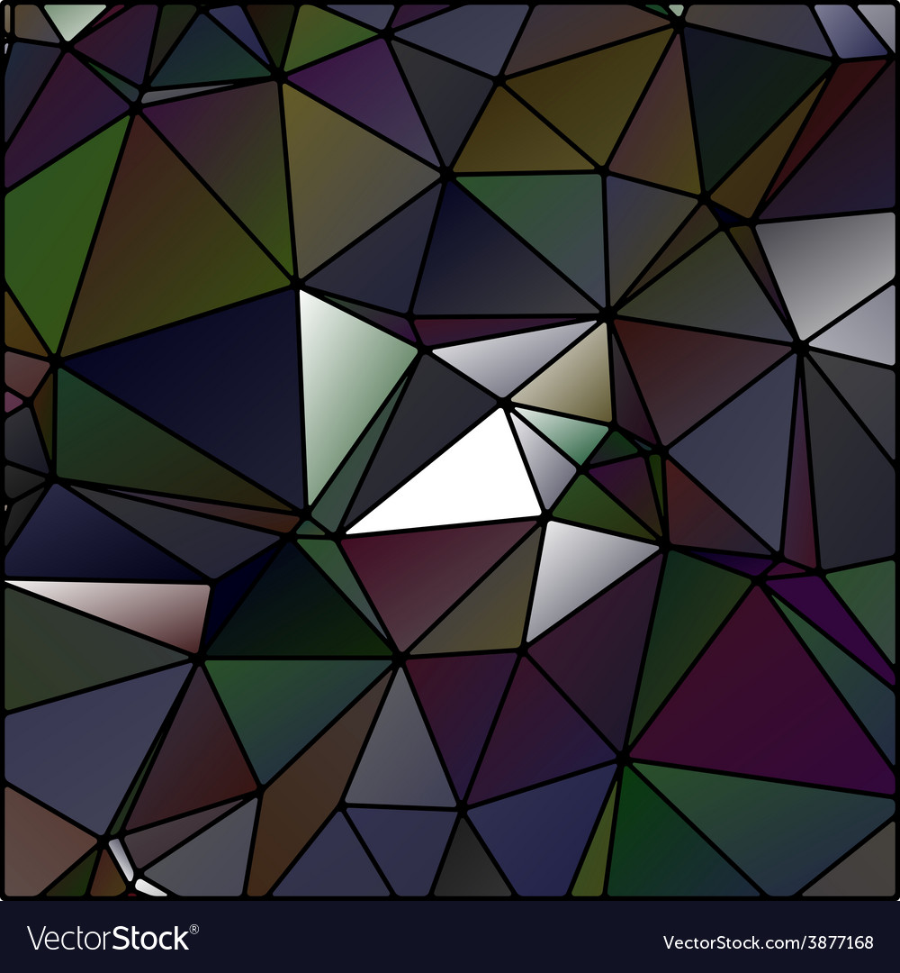 Abstract polygon stained glass vector | Price: 1 Credit (USD $1)