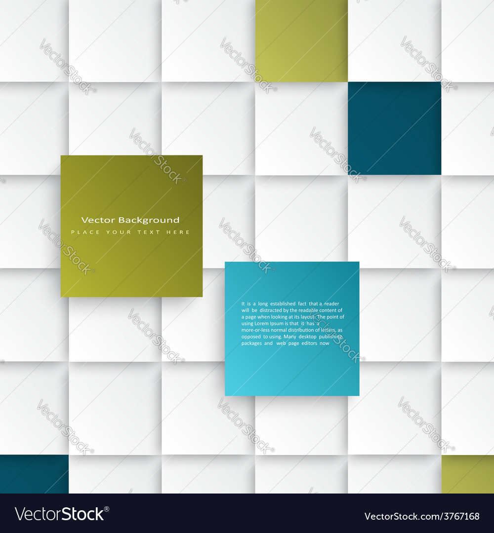 Abstract squares background vector   Price: 1 Credit (USD $1)