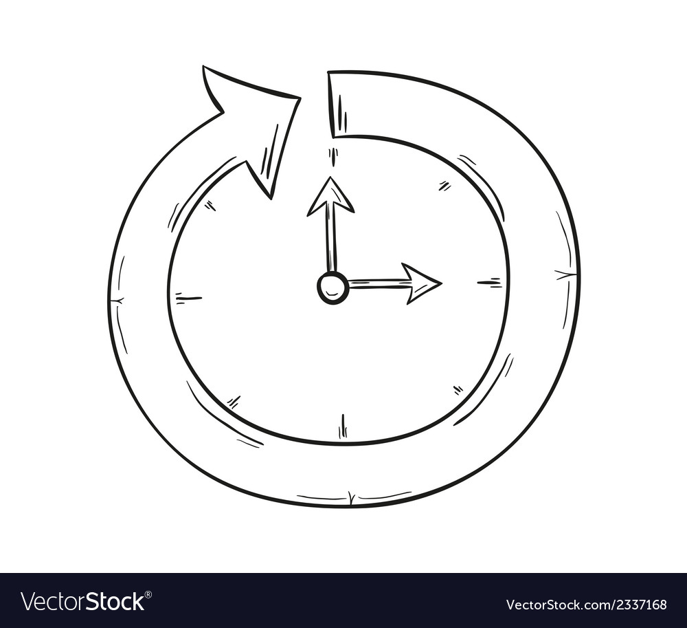 Arrow and clock vector | Price: 1 Credit (USD $1)