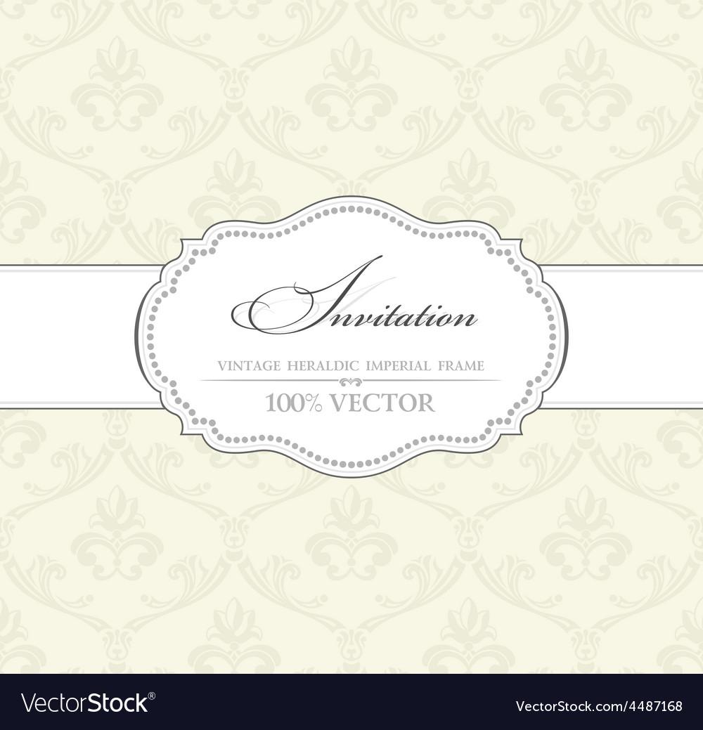 Background vintage label banner flower frame vector | Price: 1 Credit (USD $1)