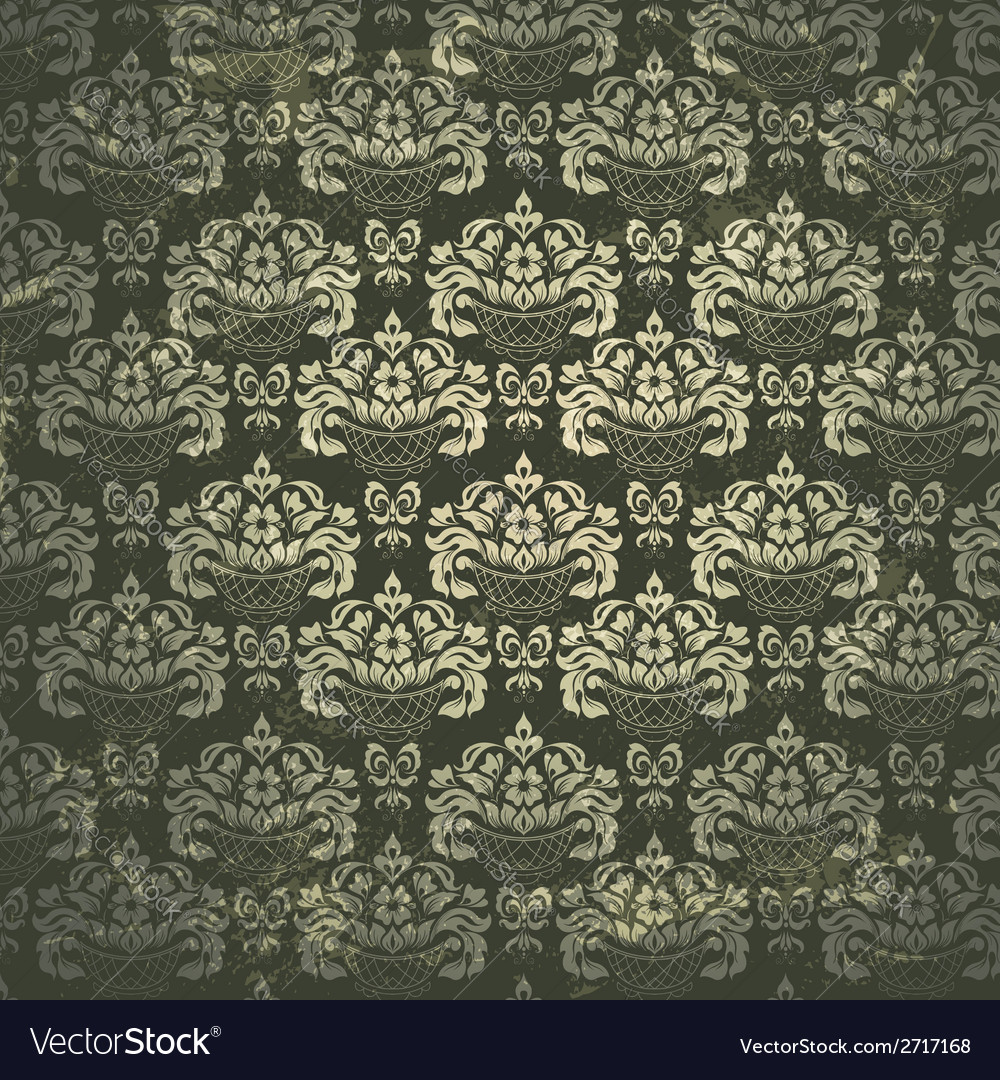 Damask vintage pattern vector | Price: 1 Credit (USD $1)