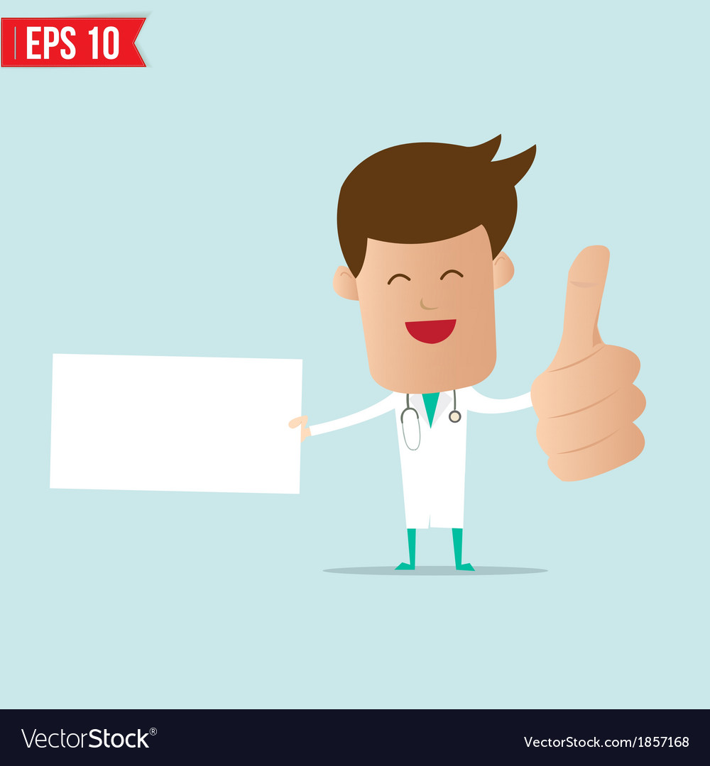Doctor with blank board vector   Price: 1 Credit (USD $1)