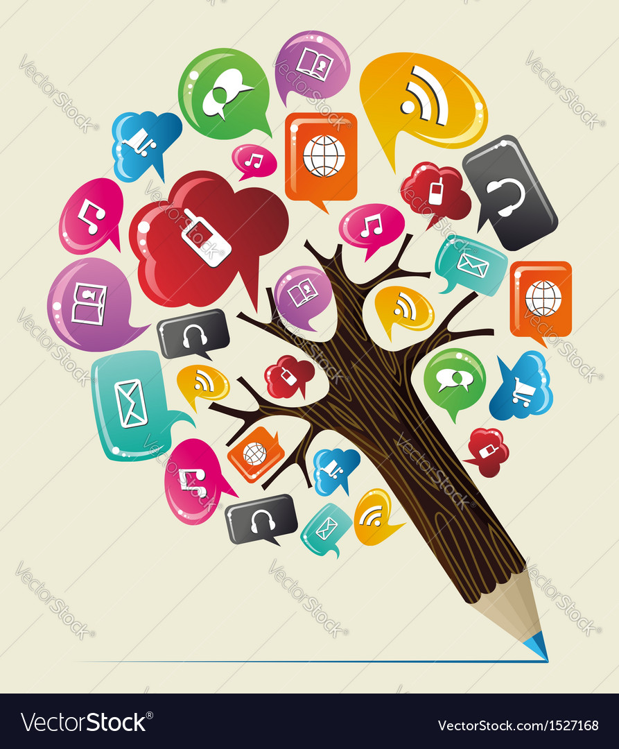 Geo location concept pencil tree vector | Price: 1 Credit (USD $1)