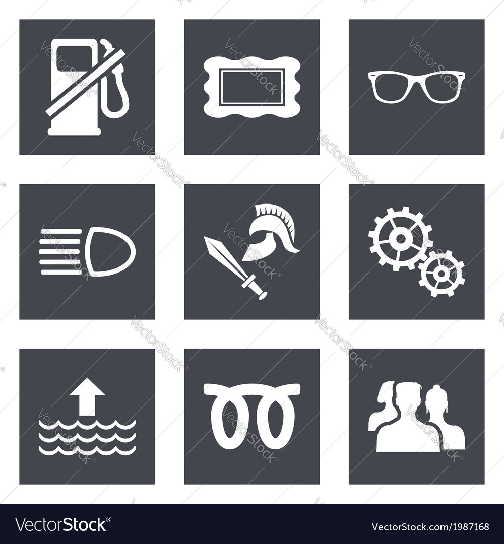 Icons for web design set 19 vector | Price: 1 Credit (USD $1)