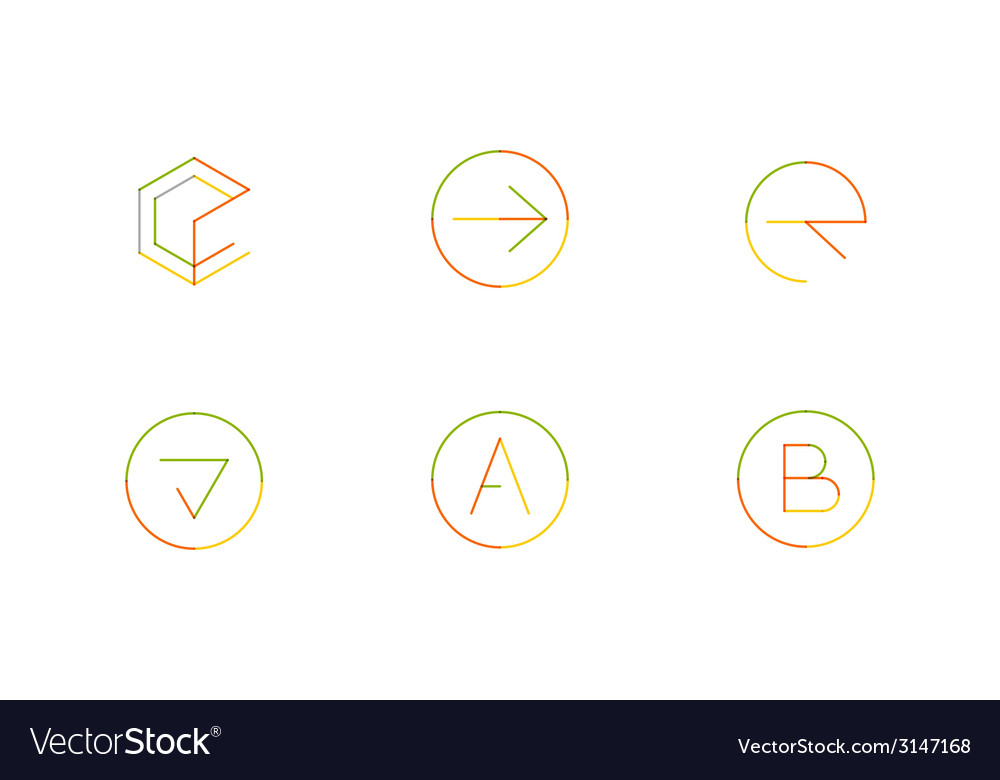 Logo set thin line clean style vector | Price: 1 Credit (USD $1)