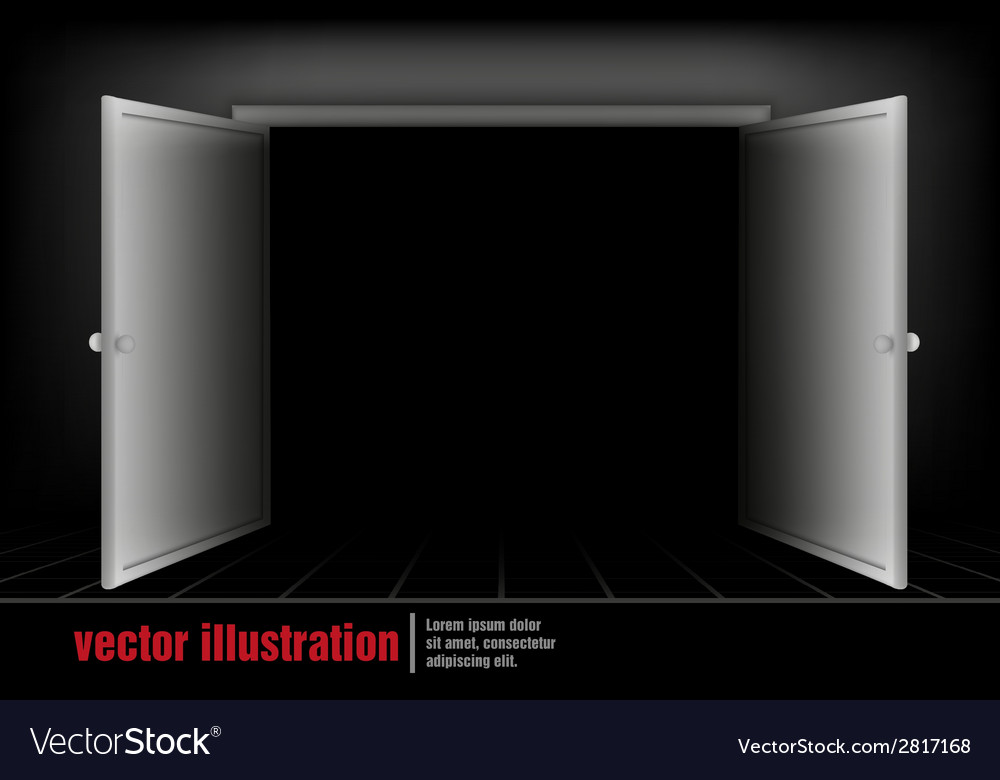 Open the door to the room vector | Price: 1 Credit (USD $1)