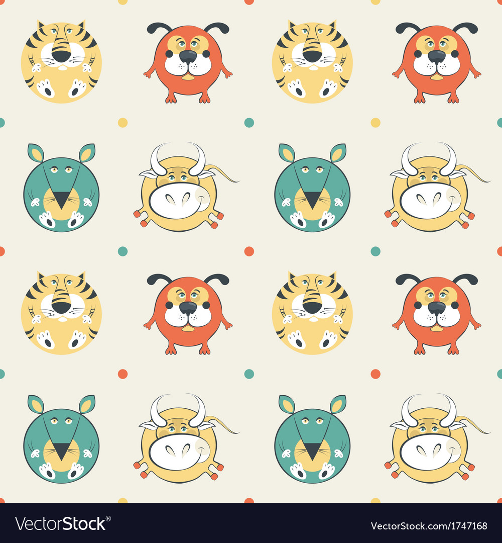 Pets pattern vector | Price: 1 Credit (USD $1)