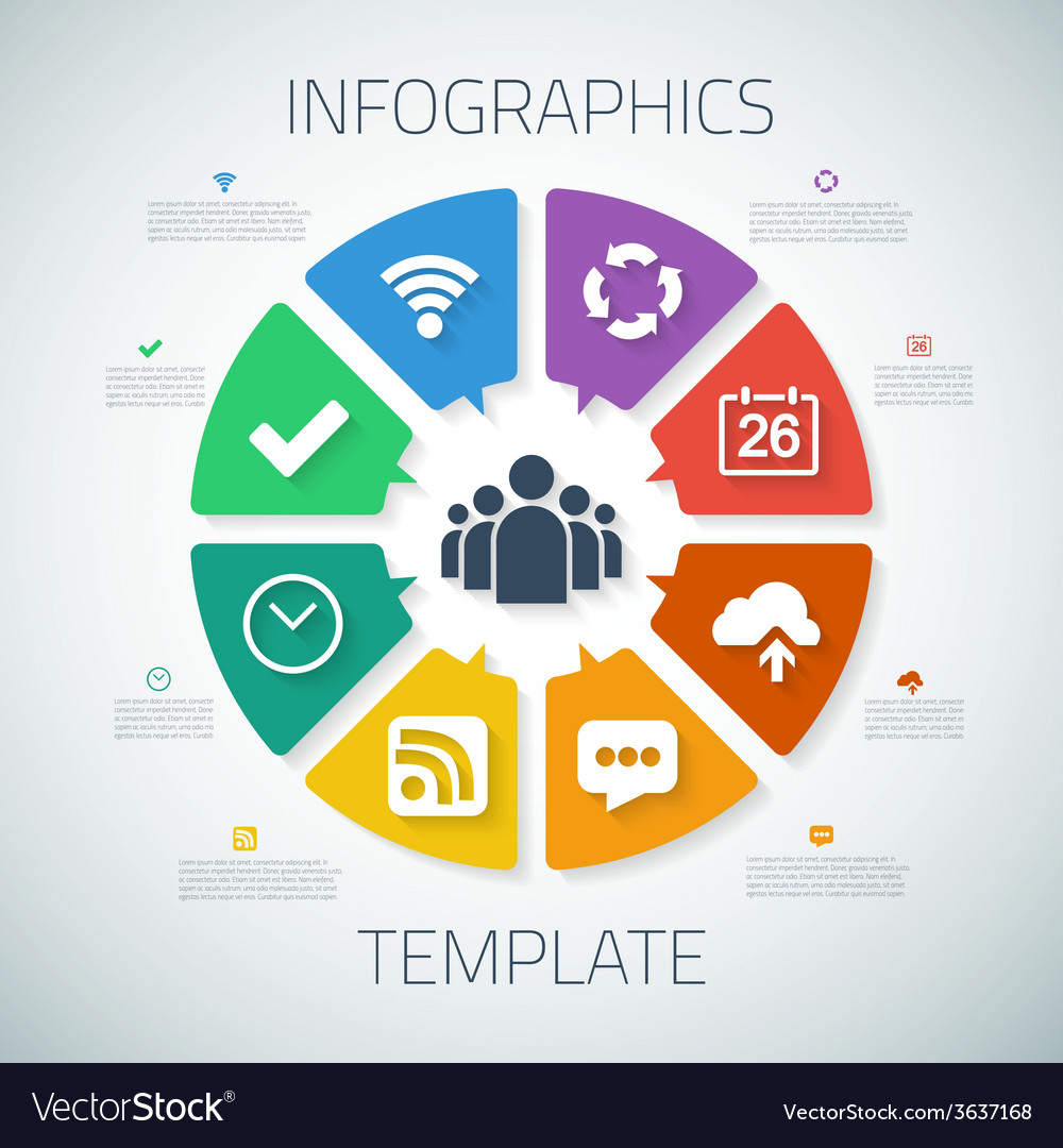 Web infographic timeline pie template layout with vector | Price: 1 Credit (USD $1)