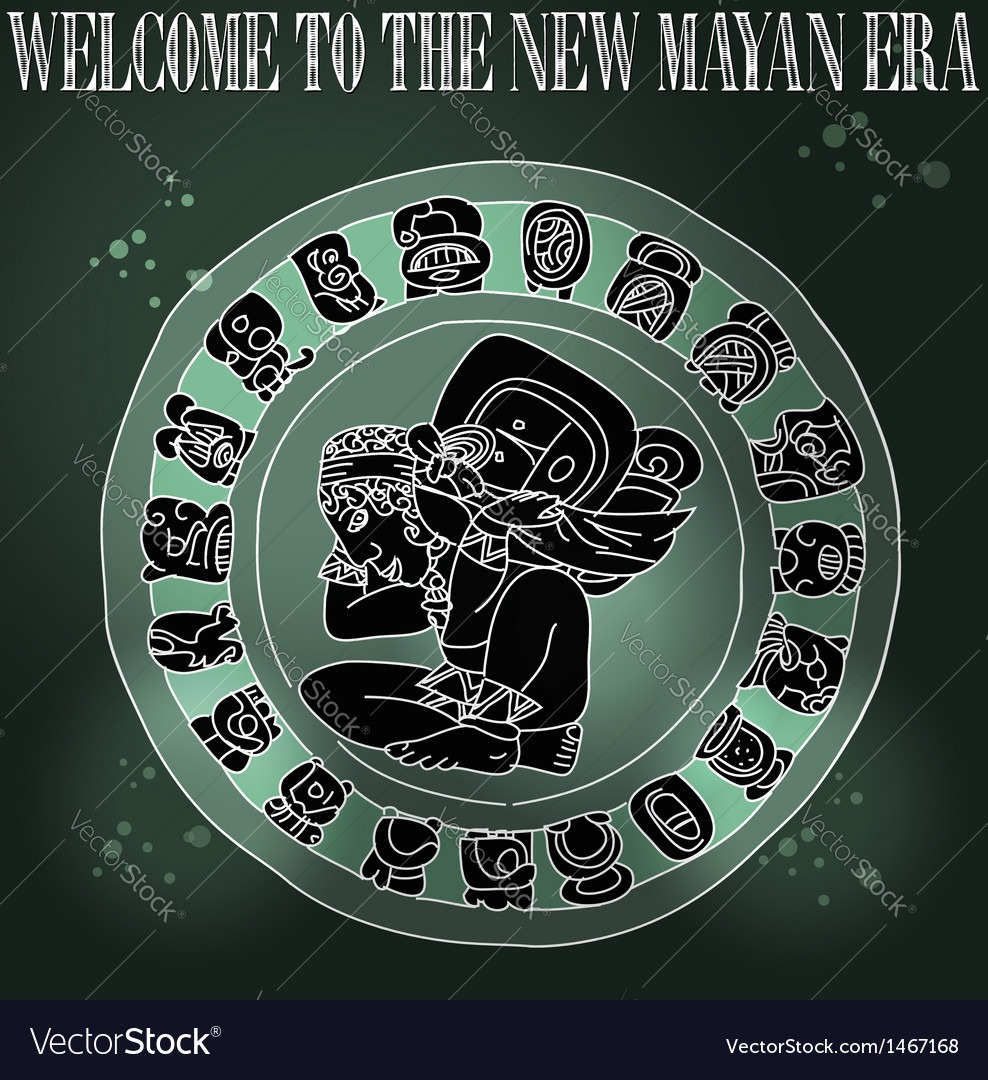 Welcome new mayan era vector