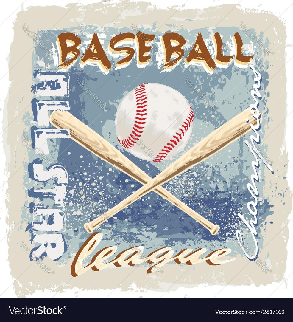 Baseball league grunge vector | Price: 3 Credit (USD $3)