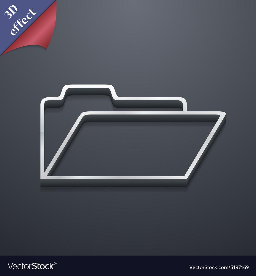 Document folder icon symbol 3d style trendy modern vector | Price: 1 Credit (USD $1)