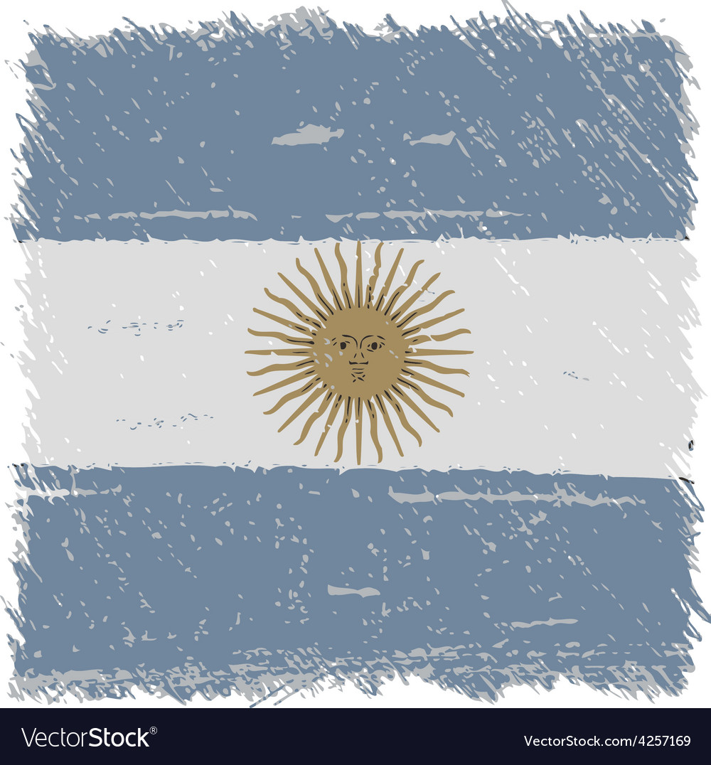 Flag of argentina handmade square shape vector | Price: 1 Credit (USD $1)