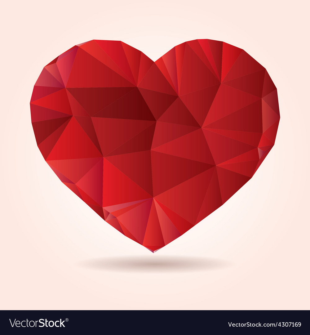 Heart origami low poly abstract vector | Price: 1 Credit (USD $1)