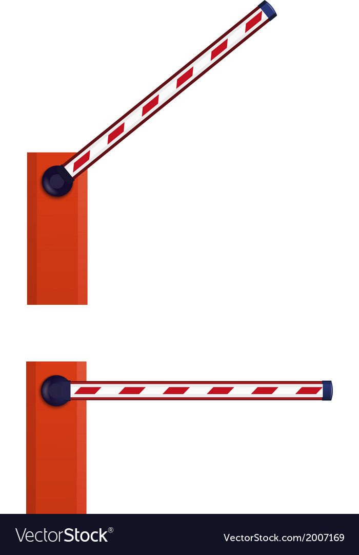 Orange automatic barrier vector | Price: 1 Credit (USD $1)
