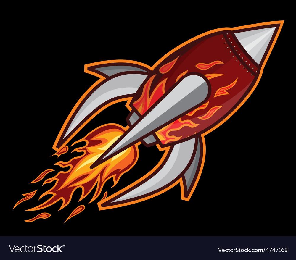 Rocket crna podloga resize vector | Price: 1 Credit (USD $1)