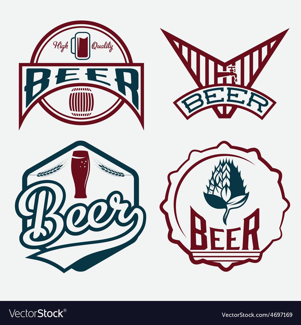 Set of beer vintage labels vector | Price: 1 Credit (USD $1)