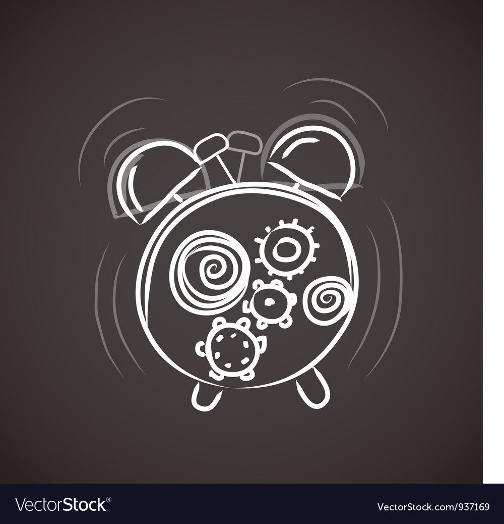 Sketchy alarm clock vector | Price: 1 Credit (USD $1)