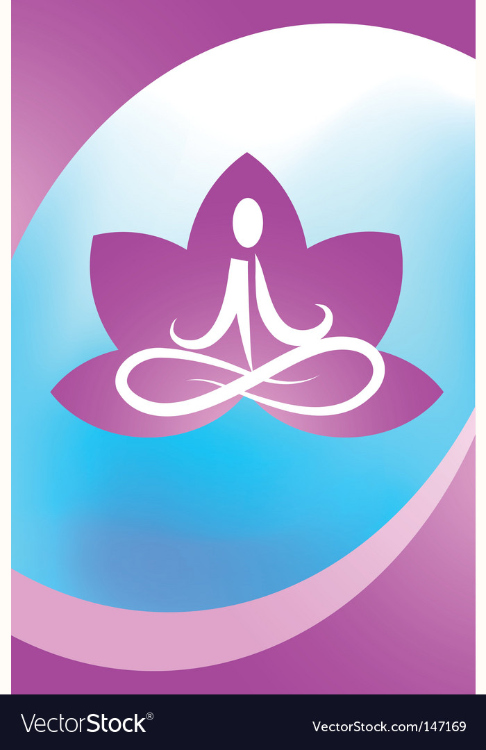 Yoga lotus logo vector | Price: 1 Credit (USD $1)