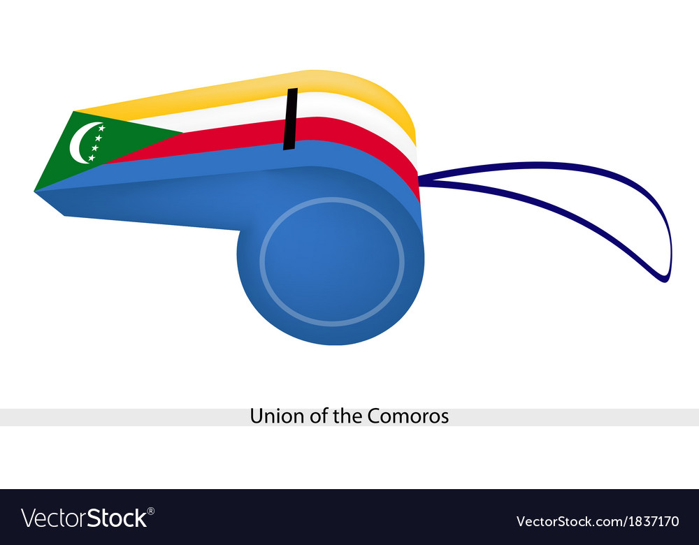 A whistle of union of the comoros vector | Price: 1 Credit (USD $1)