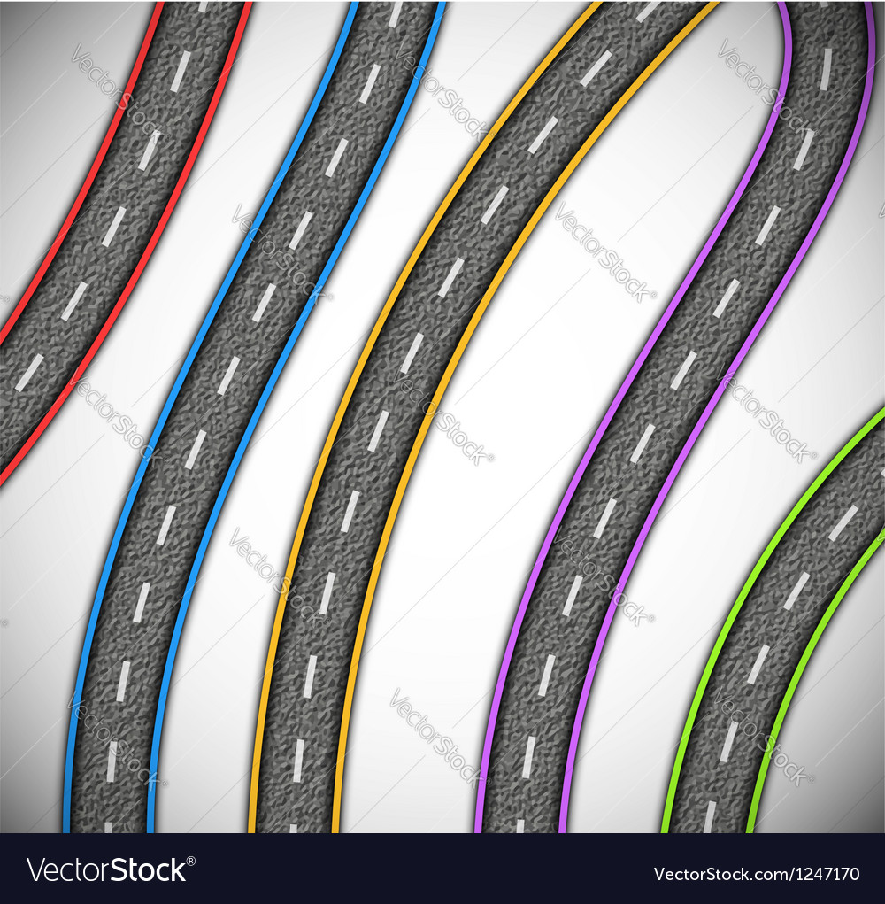 Asphalted roads vector | Price: 1 Credit (USD $1)