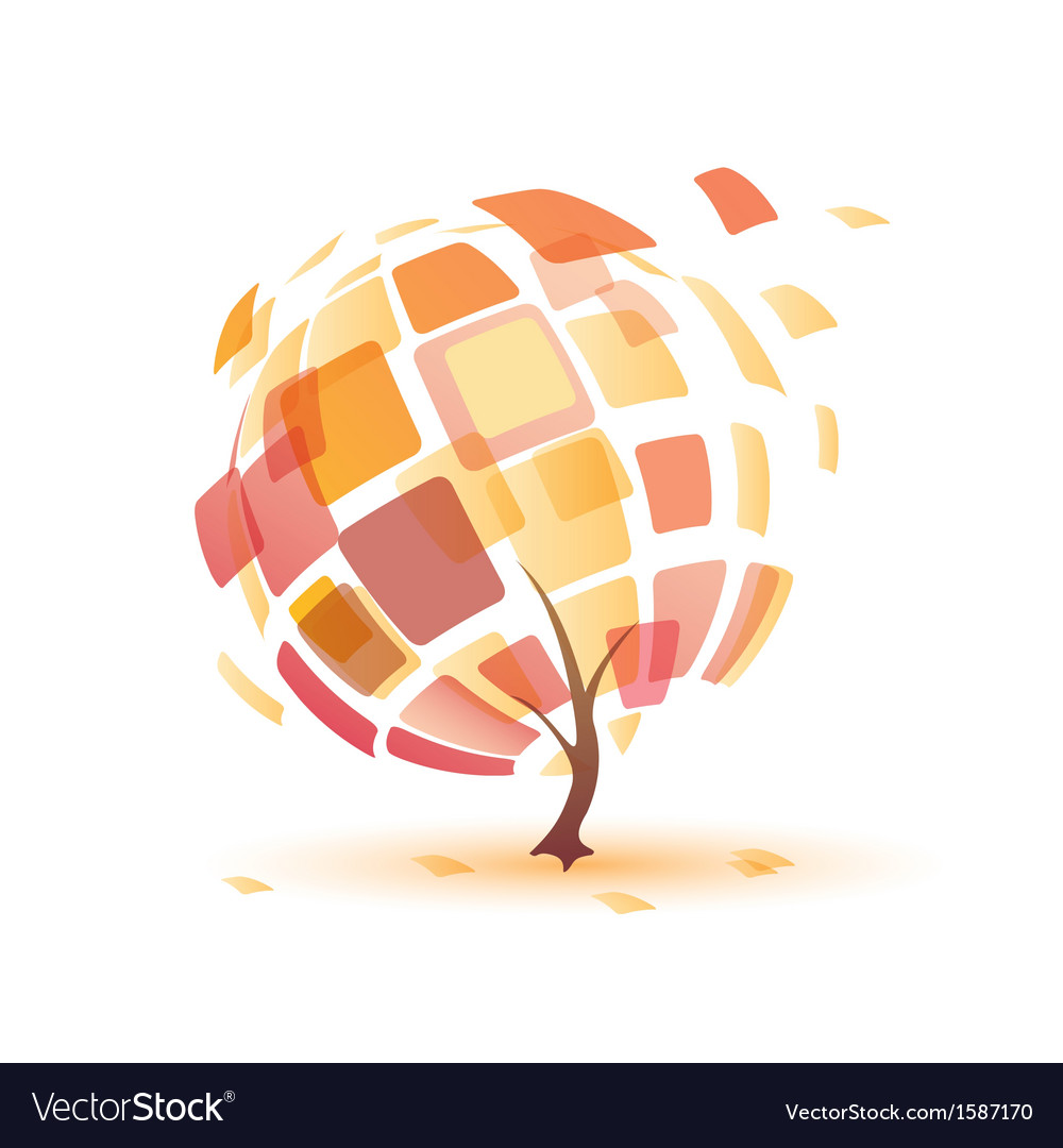 Autumn tree abstract icon vector | Price: 1 Credit (USD $1)
