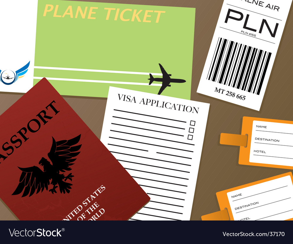 Check-in visa vector | Price: 1 Credit (USD $1)