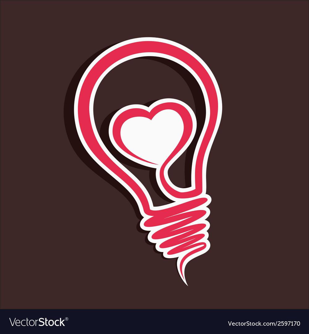 Creative love sticker vector | Price: 1 Credit (USD $1)