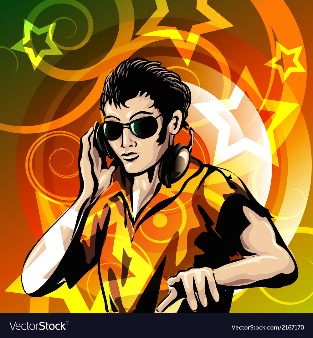 Disc jockey vector | Price: 1 Credit (USD $1)