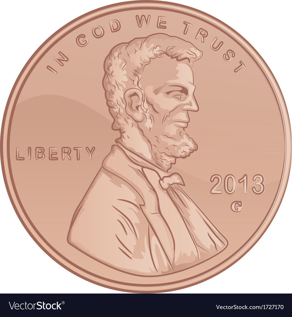 Penny cartoon vector | Price: 1 Credit (USD $1)
