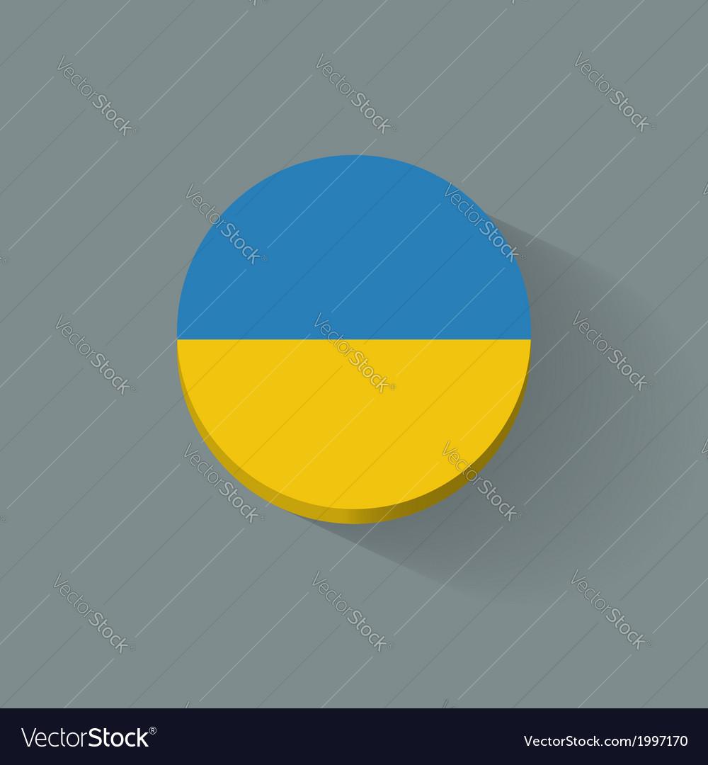 Round icon with flag of ukraine vector | Price: 1 Credit (USD $1)