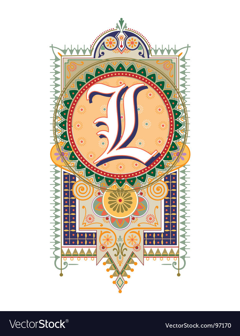 Royal letter l vector | Price: 1 Credit (USD $1)