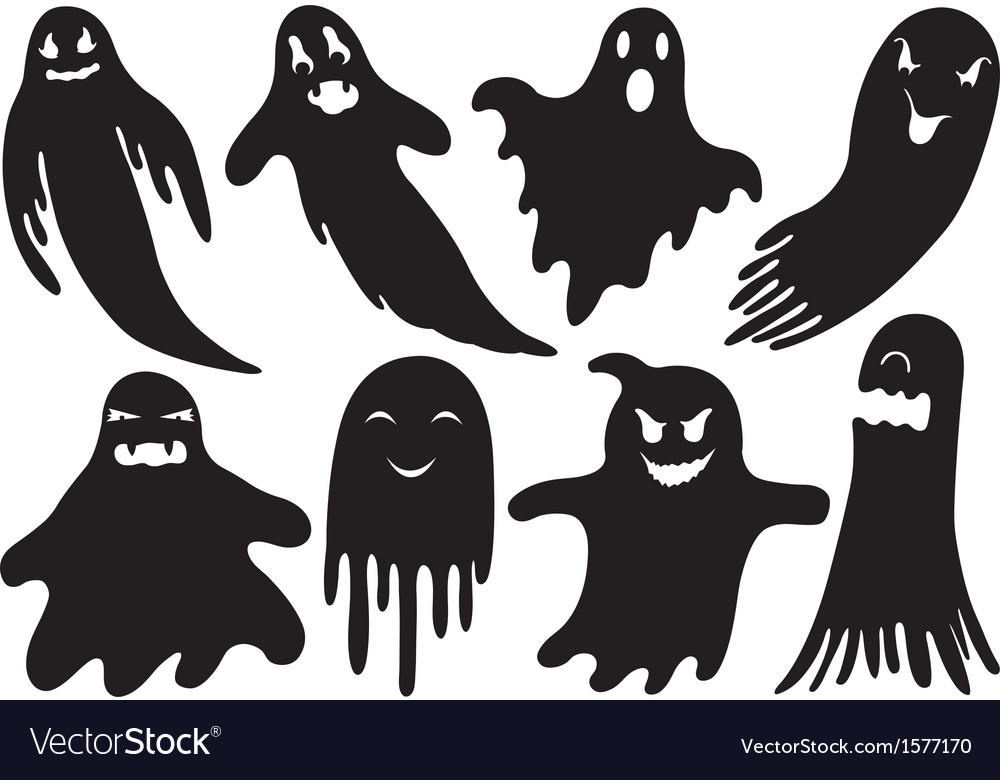 Set of different ghosts vector | Price: 1 Credit (USD $1)