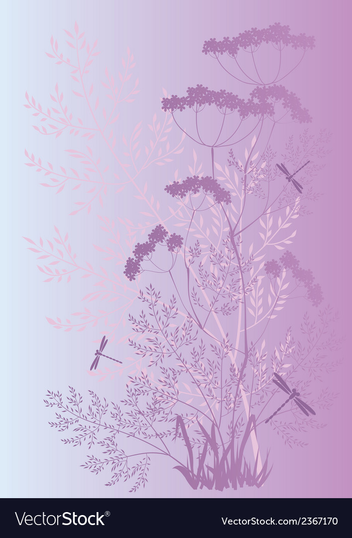 Silhouettes of grass and flowers vector   Price: 1 Credit (USD $1)