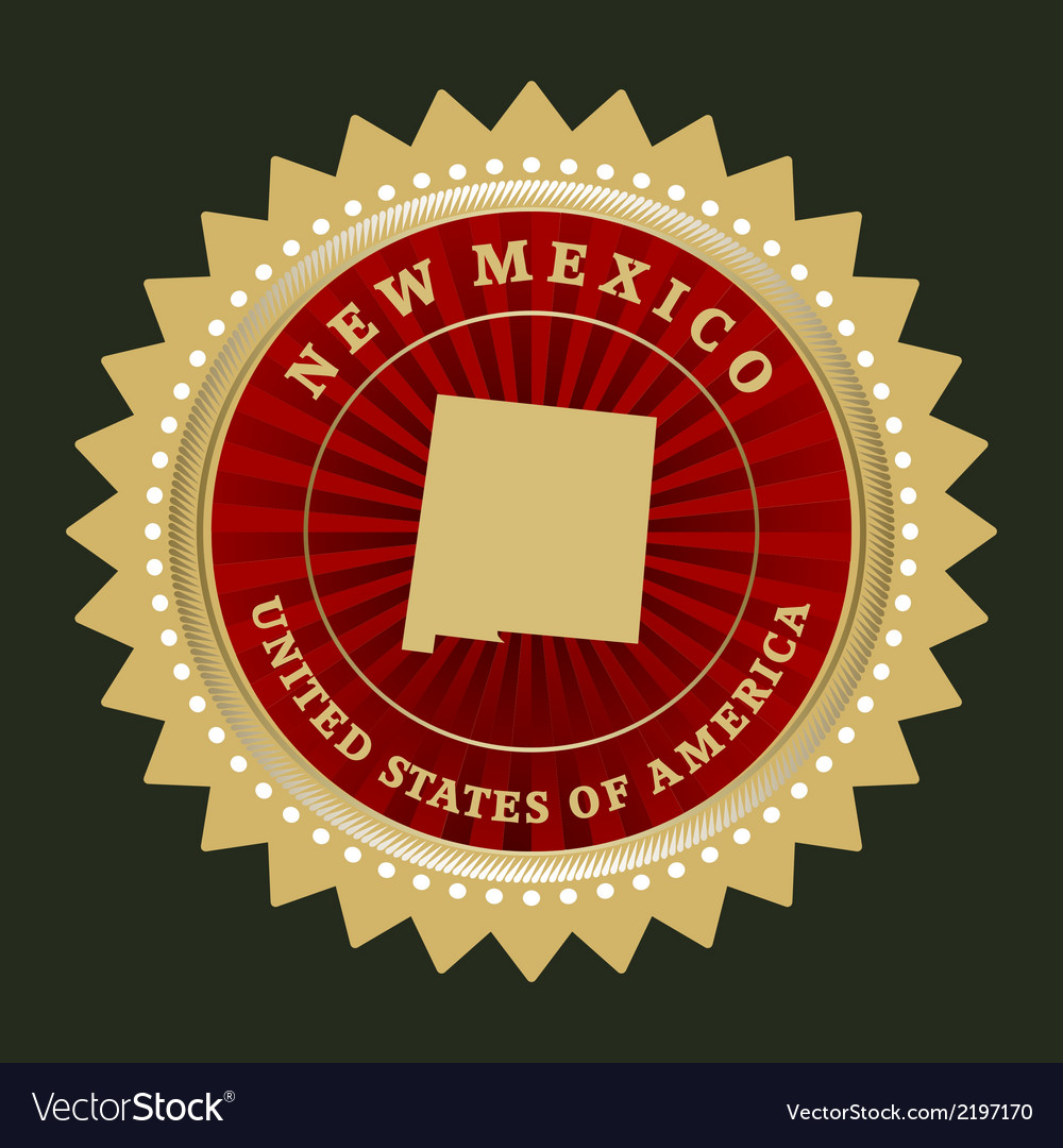 Star label new mexico vector | Price: 1 Credit (USD $1)