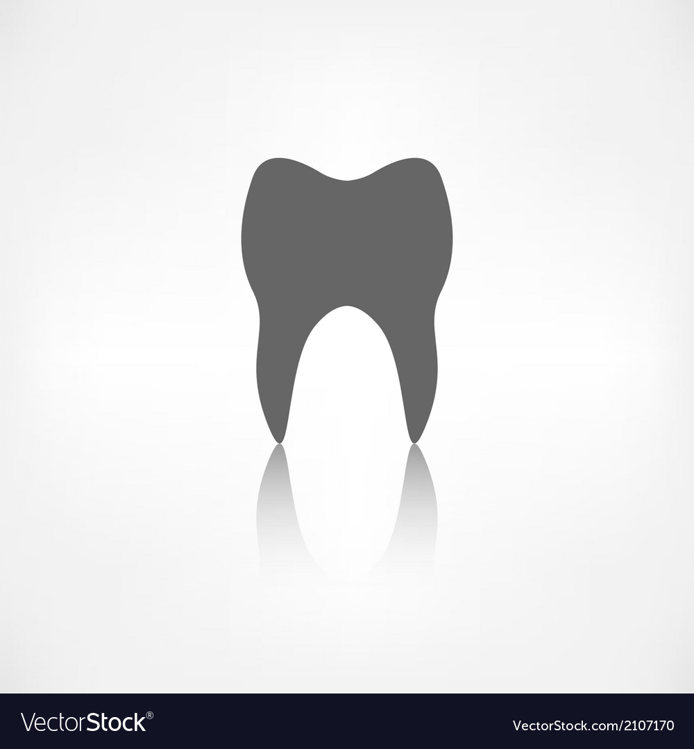 Tooth web icon vector | Price: 1 Credit (USD $1)