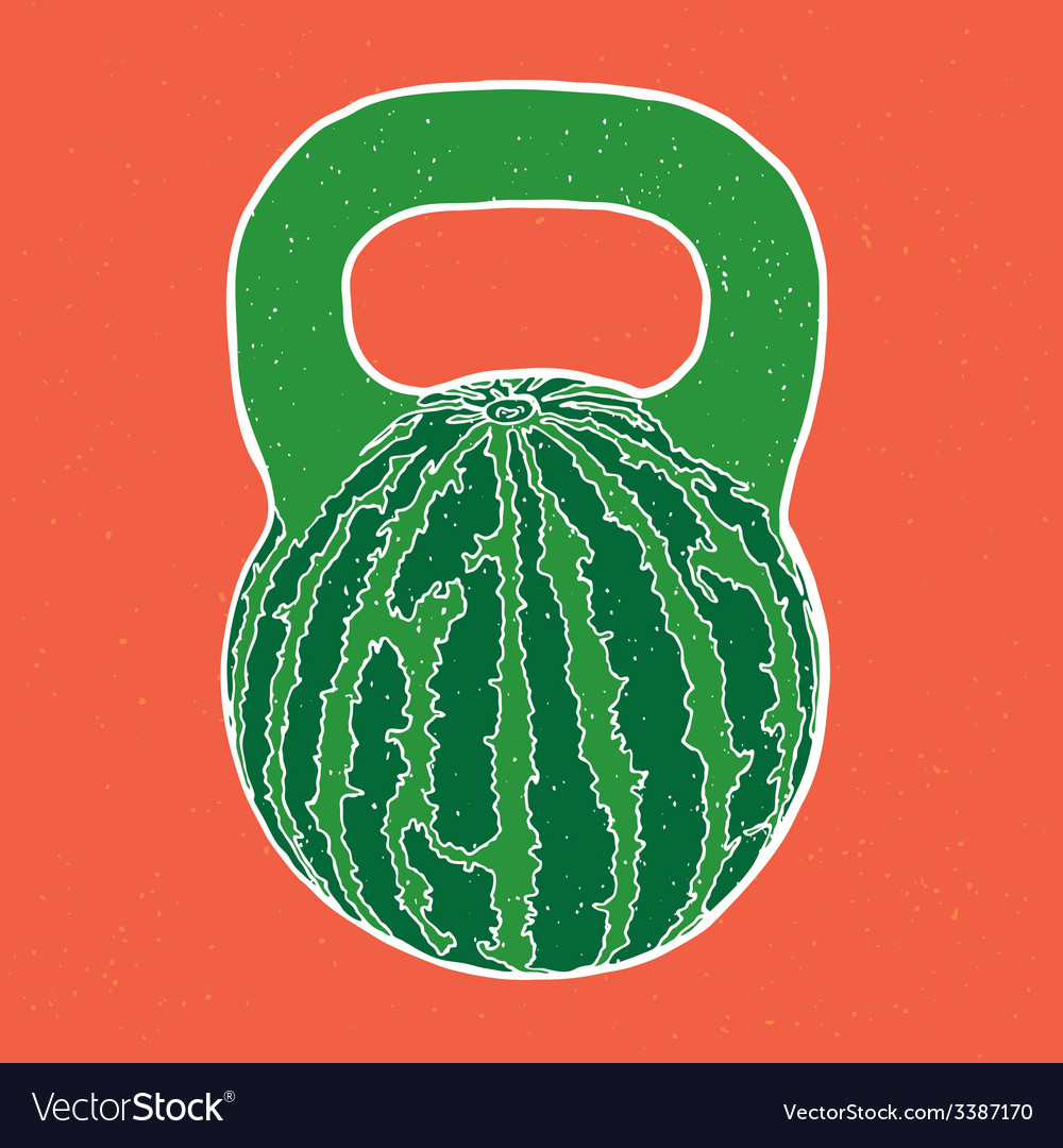 Watermelon kettlebell vector | Price: 1 Credit (USD $1)